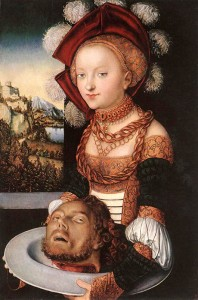Salome, by Lucas Cranach the Elder